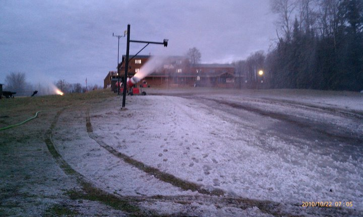 first snow at Ski Brule