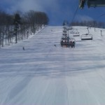 Corduroy groomers at Boyne Mountain