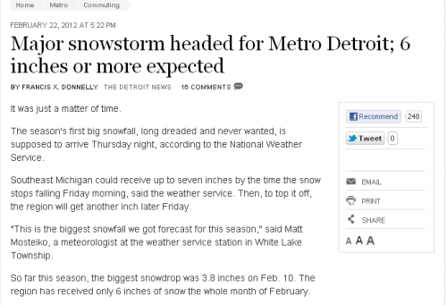 freep predicts death storm