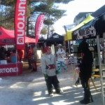 Burton and Mervin tents at Test Fest
