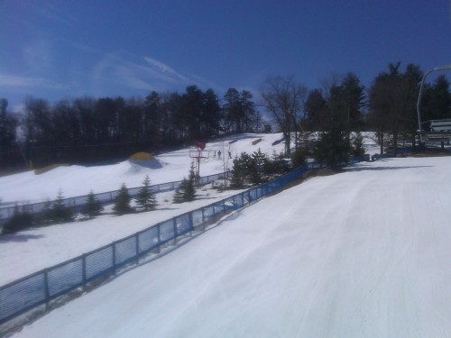 Pine Knob's terrain park, closing day 2012