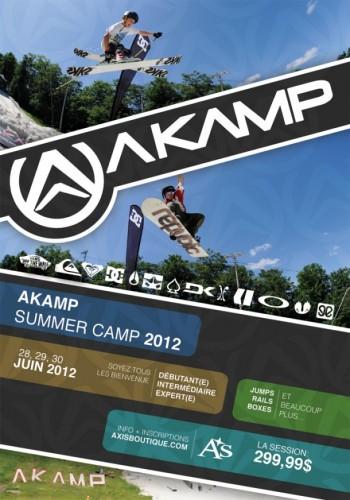 akamp flyer summer 2013 snow camp at Mont Avila, QC