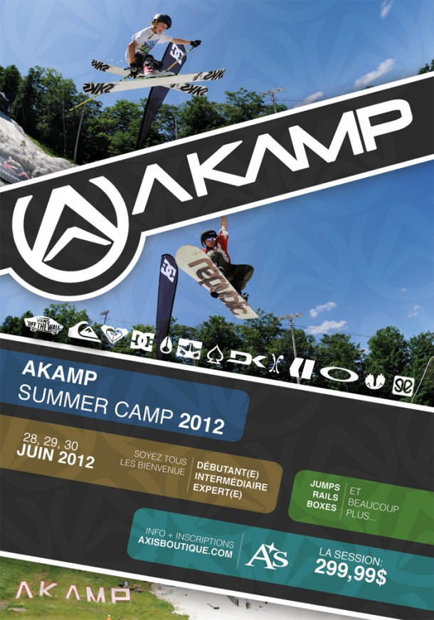 akamp flyer summer 2013 snow camp at Mont Avila, QC