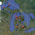 Longtime fan, friend and supporter Sam has created a comprehensive Google Maps directory of all the ski areas in Michigan, complete with stats like vertical feet and number of trails.