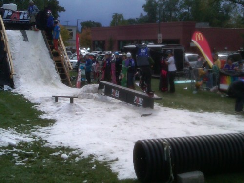 Another view of the dual features at the Birmingham Rail Jam