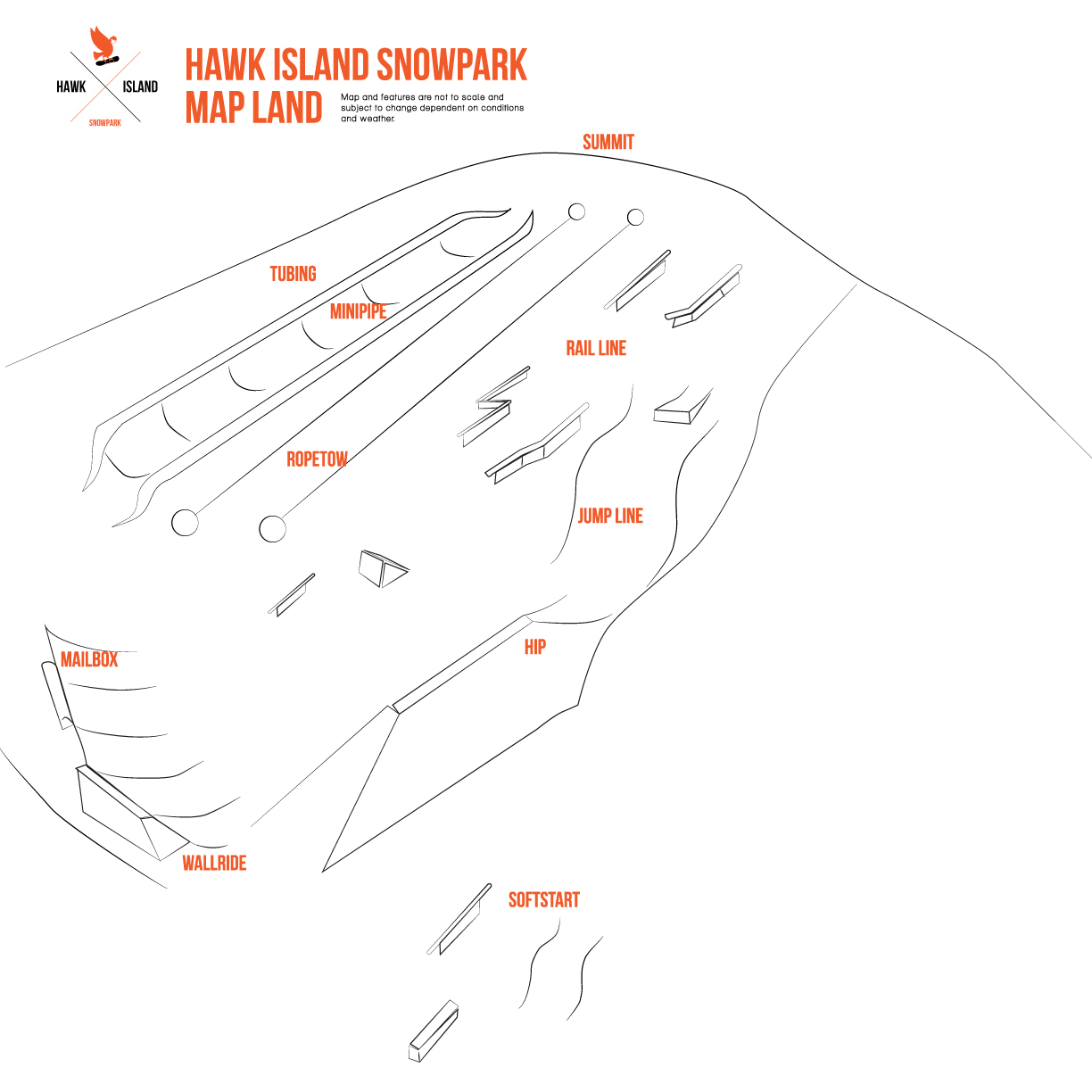 Updated terrain plan for Hawk Island snow park