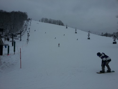 View of Buck Chairlift, about 1030am 12/26/2012