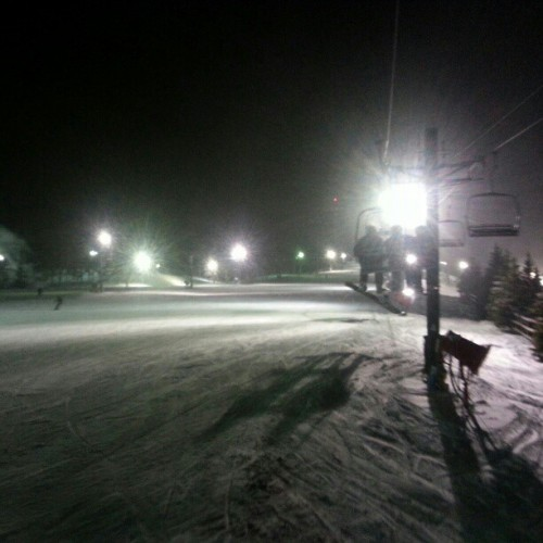 night shred at Pine Knob 12/27/2012