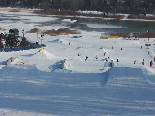 Timberline Terrain Park as of Jan 5, 2013