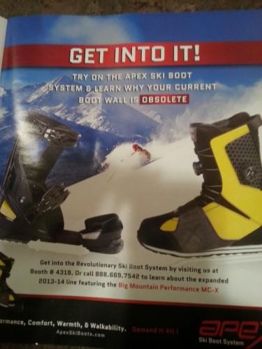 Apex ski boot system