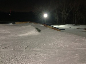 Small kicker jump at Hawk Island terrain park