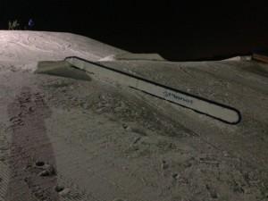 Down rail at Hawk Island