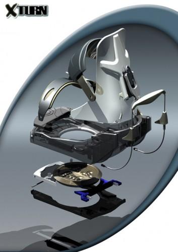 XTurn rotating snowboard binding system