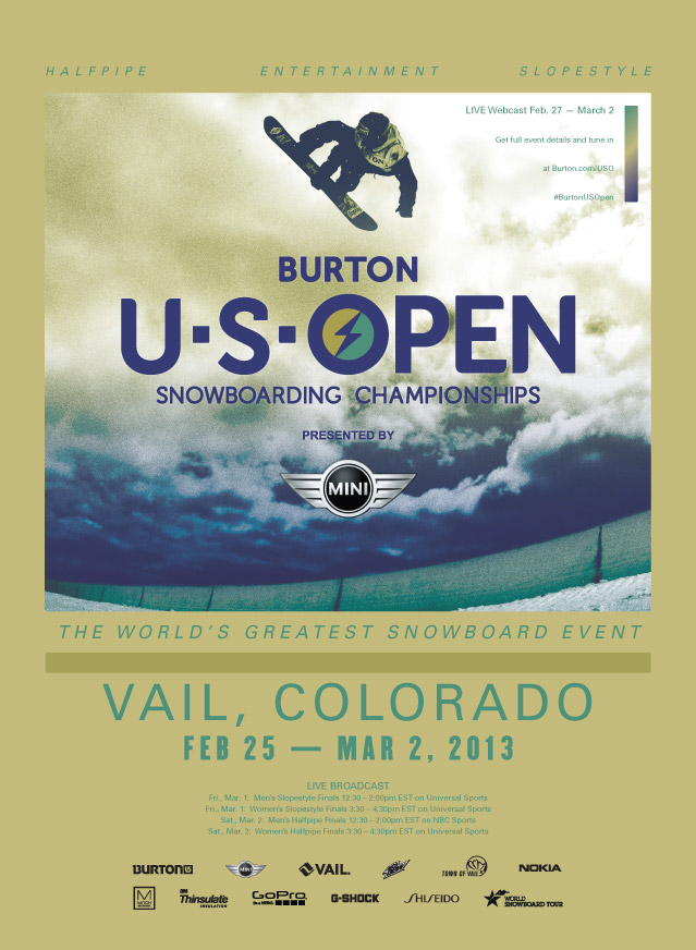 Burton US Open - Vail Colorado, February 25-March 2 2013