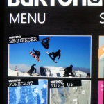 Nokia x Burton App for Windows Phone