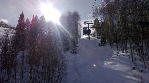 View from the chairlift, c. 930am - March 2, 2013 - Vail, CO