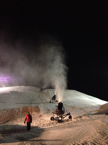 Doing work at Hawk Island Snow Park