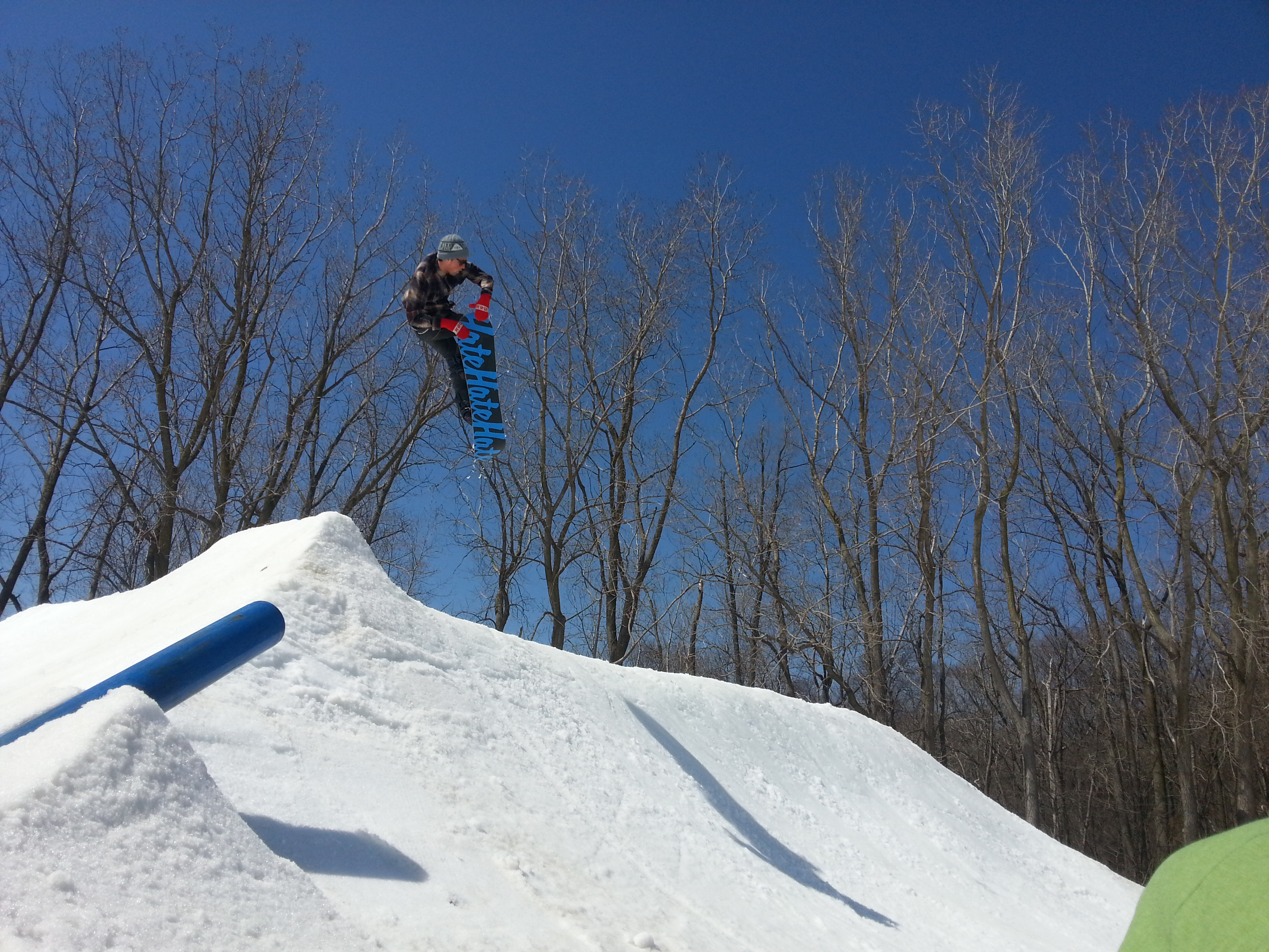 Double tail grab off the tombstone at Hawk Island