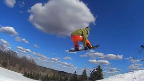 Joe Waun grabbing stalefish at Pine Knob, 3/29/2013