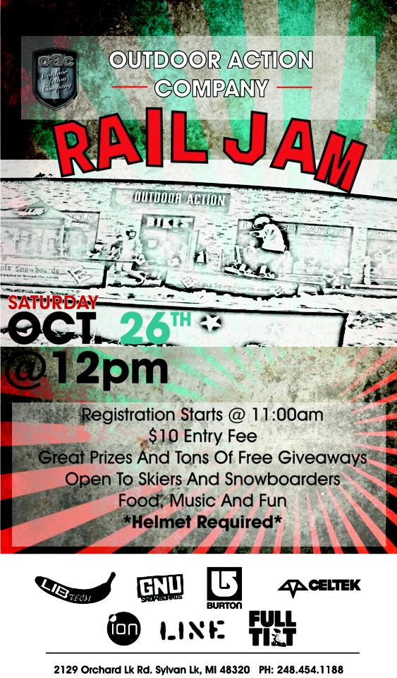 OAC Pre-season Rail Jam, Saturday October 26, 2013