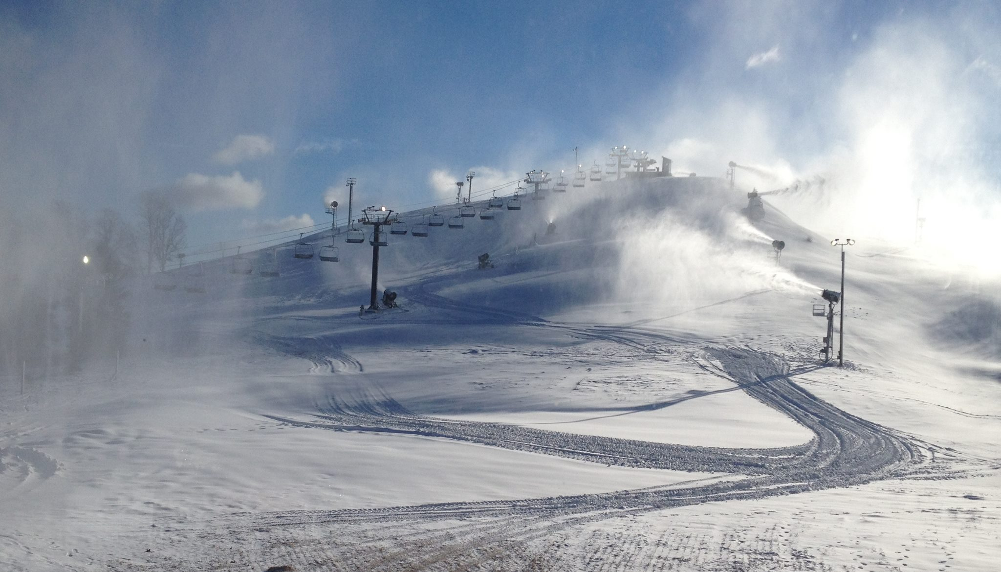 Mt. Brighton snowmaking, November 23 2013