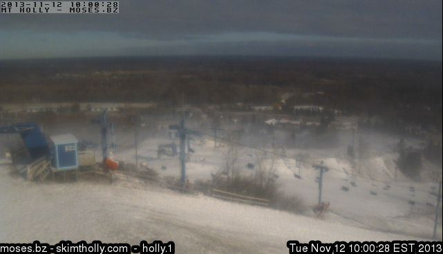 Mt. Holly's webcam, Tuesday November 12, 2013