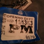Mt. Holly opening day lift ticket 2013