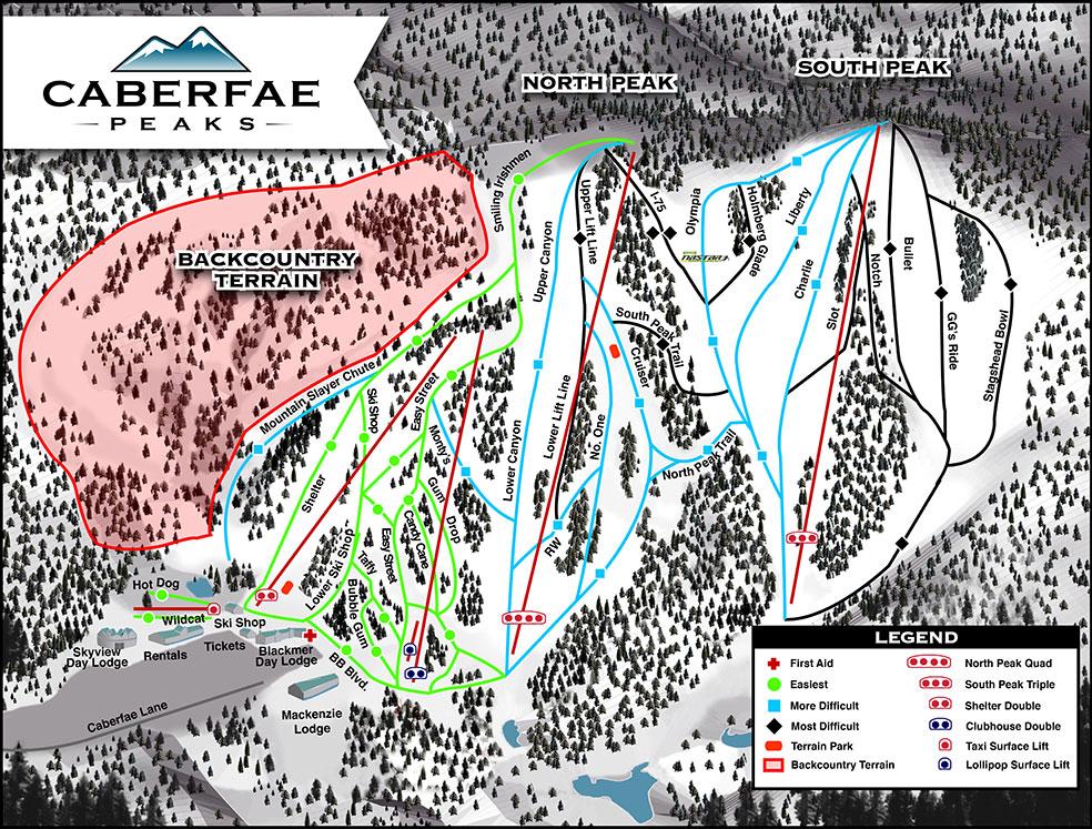 Caberfae Peaks trail map