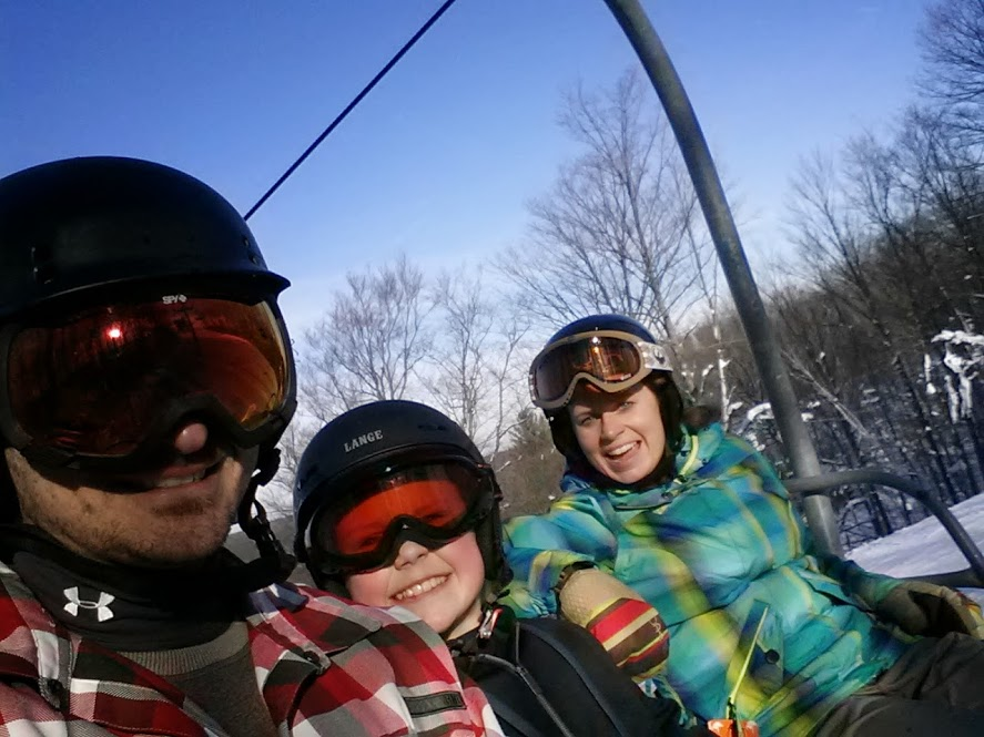 Family shred at Treetops Resort, Gaylord MI