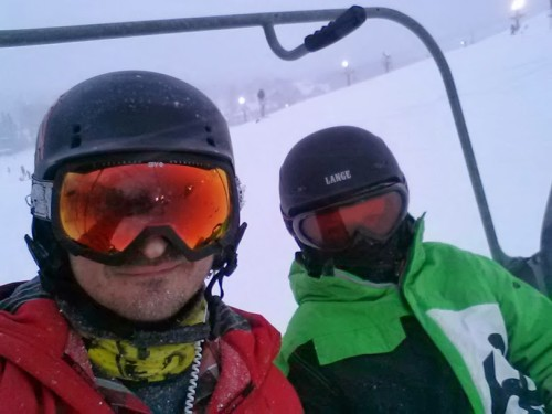 chairlift selfie - Crystal Clipper lift, 1/24/2014