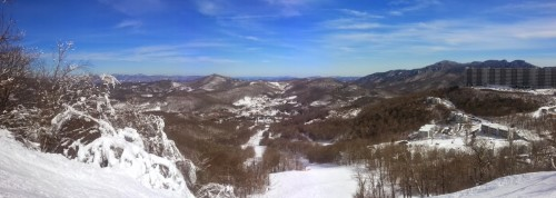 Panoramic from the top of Whoopdedo, Sugar Mountain NC