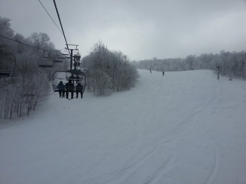 View from the Oz lift at Beech Mountain