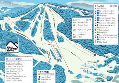 beech mountain trail map