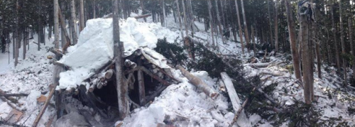 What remains of Leo's Shack, Peak 10 at Breckenridge Ski Resort
