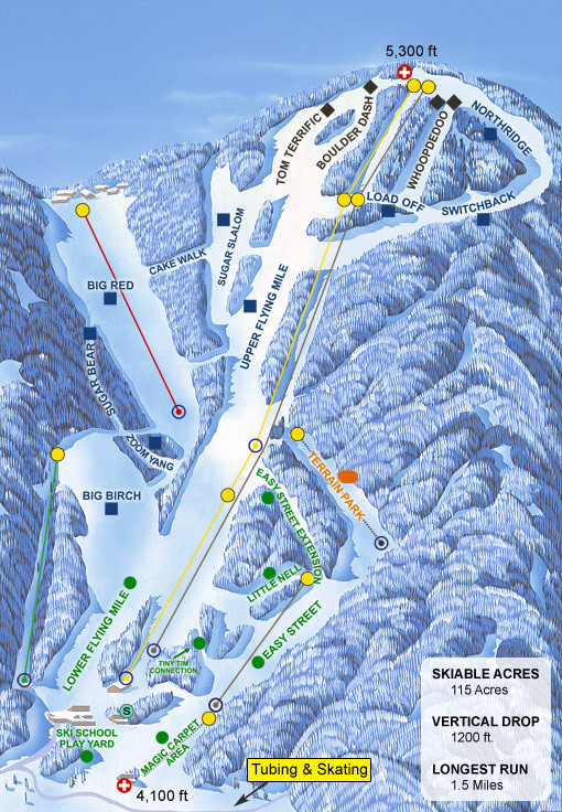 Sugar Mountain trail map