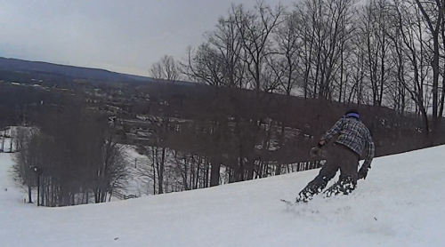 Surfing the white wave at Boyne Mountain, 4/12/2014