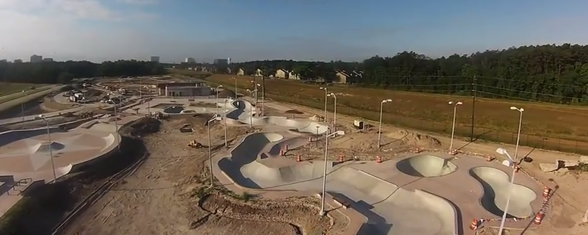 Aerial pic of the new spring skatepark
