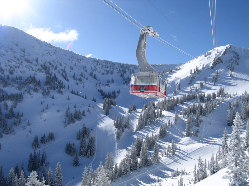 The Aerial Tram at Snowbird Ski Resort