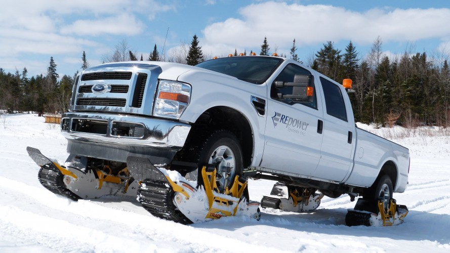 Track 'n' Go Truck Track system on a Ford F-250