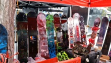 2016 Capita snowboards on display at Test Fest
