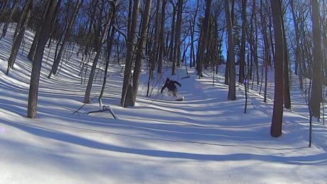 snowboarding at Bloomer Park