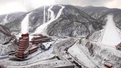 Masik Pass skiing and snowboarding in North Korea