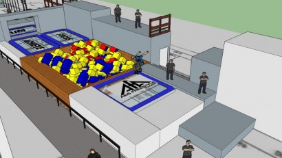 Axis Freestyle Academy trampoline & foam pit section
