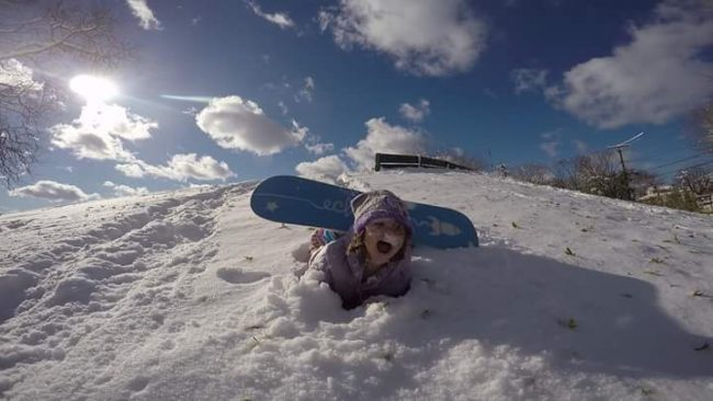 Faceplant at the local sledding hill