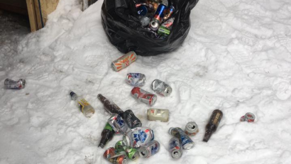 There should not be enough trash on the trail for any of us to be able to collect this much refuse: