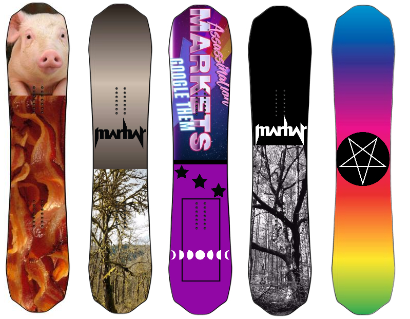 Custom Snowboard Graphics from Marhar Snowboards